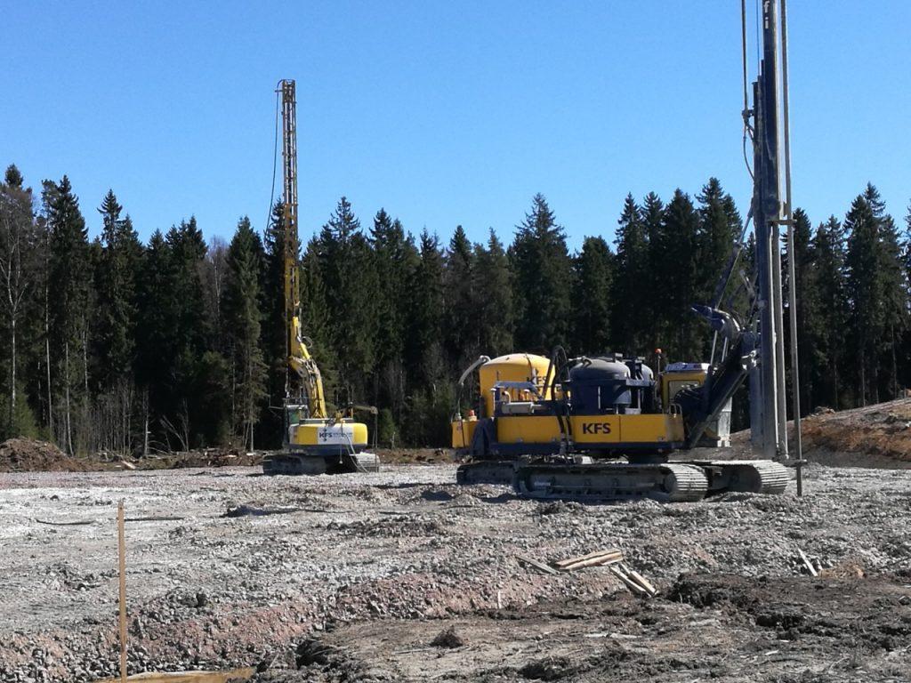 KFS Finland stabilointia tekemässä työmaalla