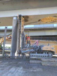 Kulosaari metro bridge piling