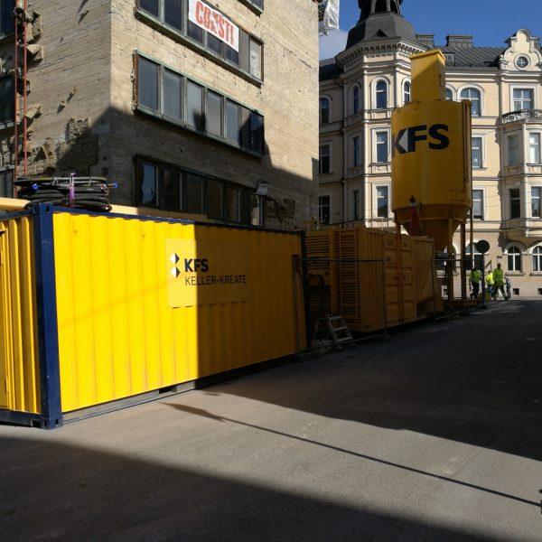 Kruunuvuoren pohjarakennusurakka - Underpinning project Kruunuvuori